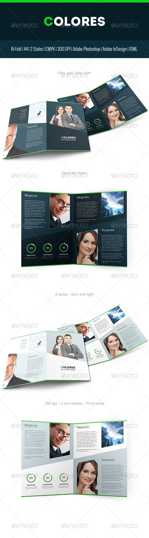 GraphicRiver Colores Brochure Corporate Bi Fold 7114128