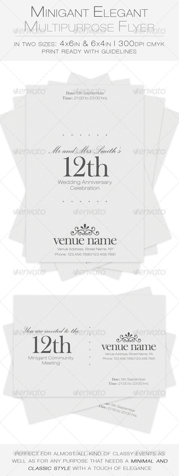 GraphicRiver Minigant Elegant Multipurpose Flyer 7114388