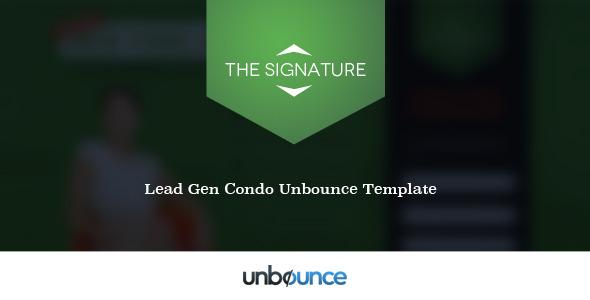 The Signature - Condo Landing Page
