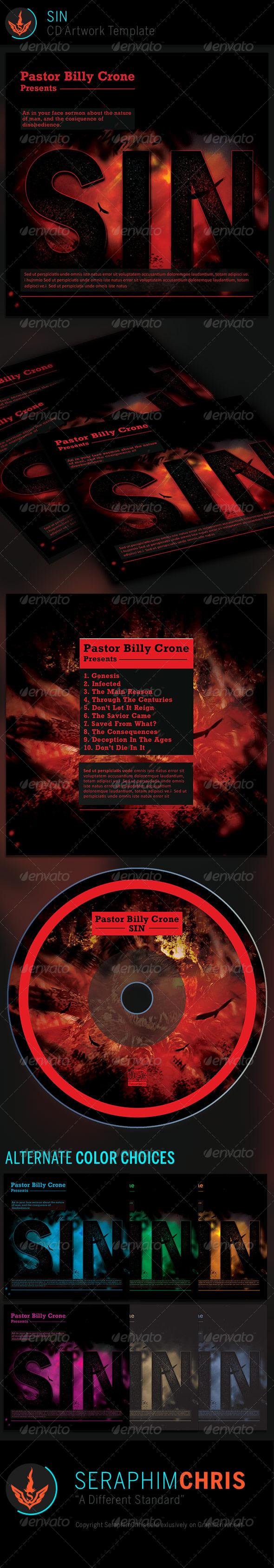 SIN CD Artwork Template