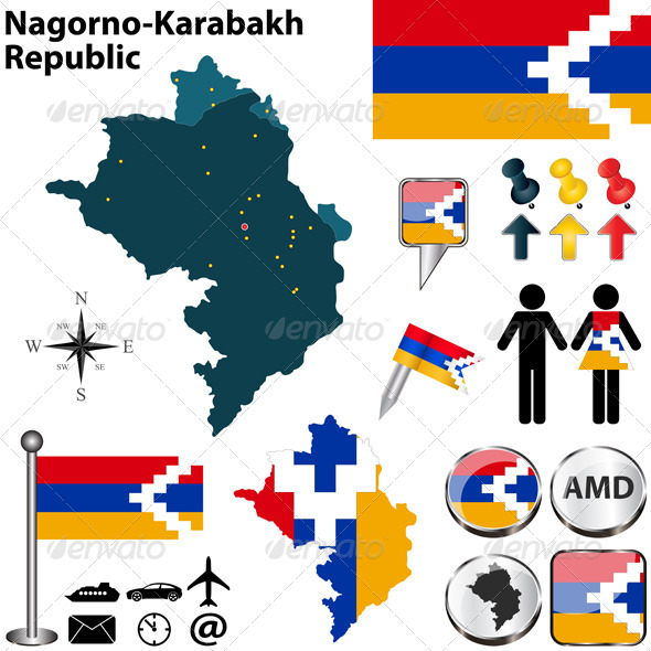 GraphicRiver Map of Nagorno-Karabakh Republic 7116614
