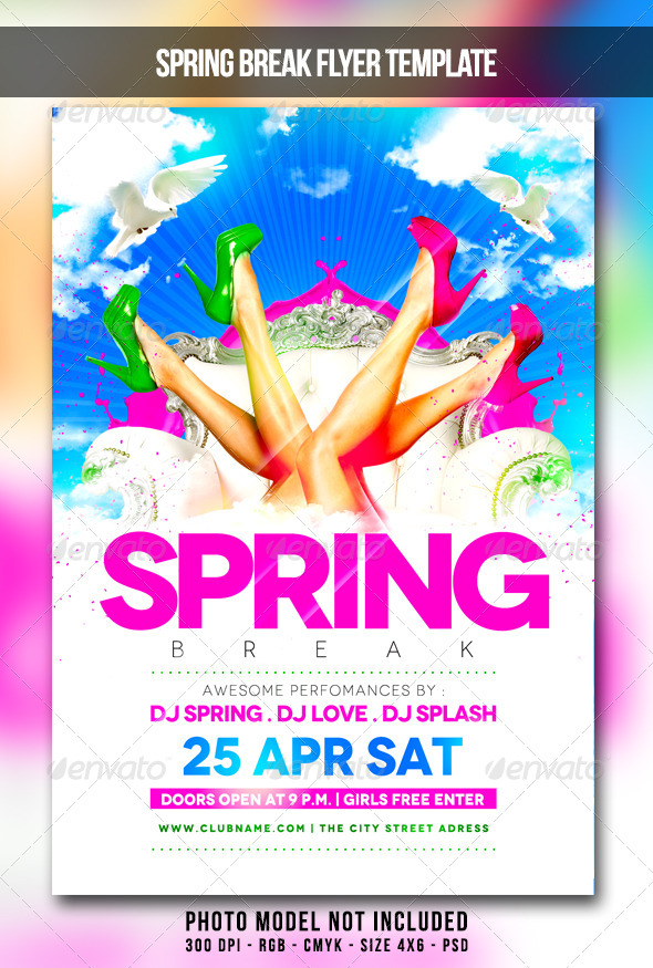 free printable template of a flyer for a spring ladies