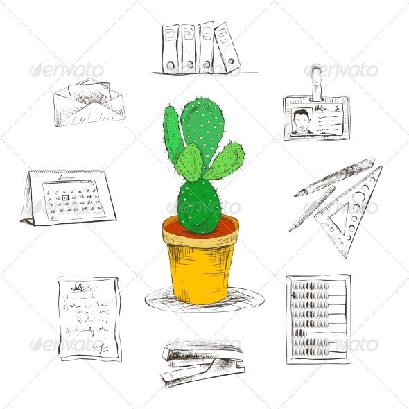 GraphicRiver Stationary Supplies 7117681