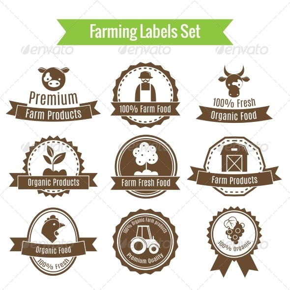 GraphicRiver Farming Harvesting and Agriculture Badges or Label 7117727