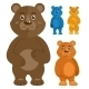 Decorative Teddybears Icons Set - GraphicRiver Item for Sale