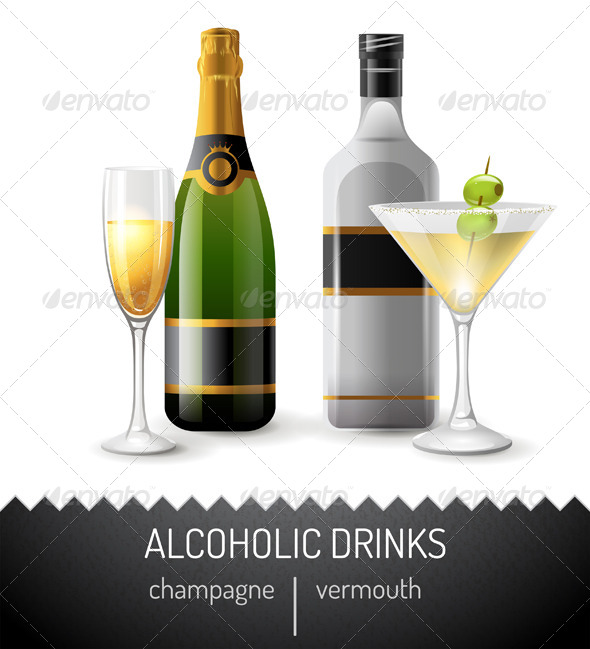 GraphicRiver Alcoholic Drinks 7117733