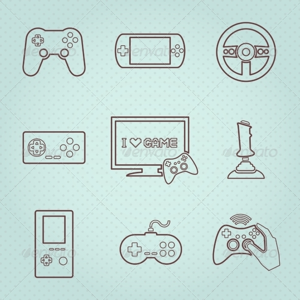 GraphicRiver Video Games Controller Icons Set 7117734