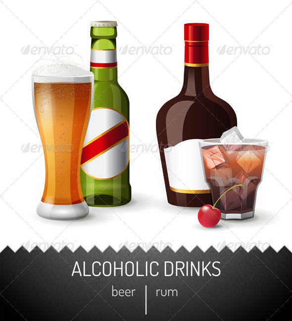 GraphicRiver Alcoholic Drinks 7117753