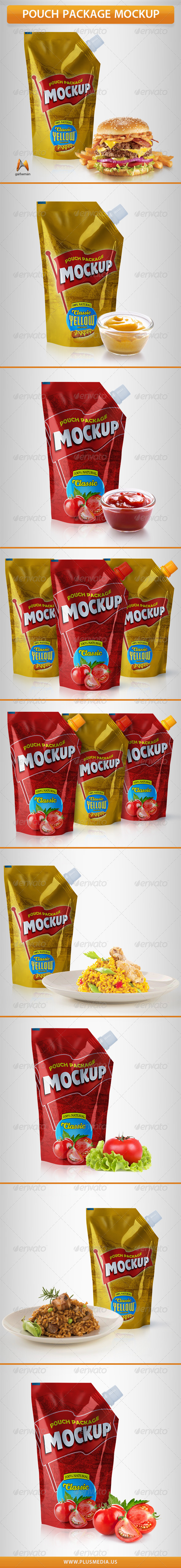 GraphicRiver Pouch Package Mock Up 7117827