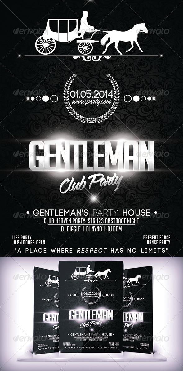 GraphicRiver Gentleman Business Club Flyer 7094171