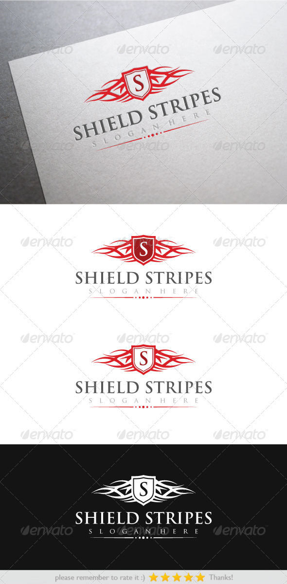 GraphicRiver Shield Stripes 7118017