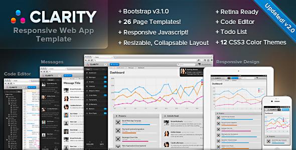 Clarity 2.0 - Responsive Web App Admin Template