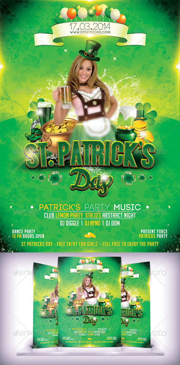 GraphicRiver St Patricks Day Flyer 7021508