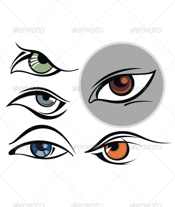 GraphicRiver Collection of Eye Icons 7118777