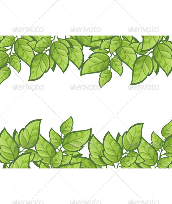 GraphicRiver Green Leaves Background 7118783
