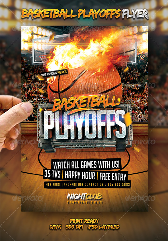 GraphicRiver Basketball Playoffs Flyer 7118872