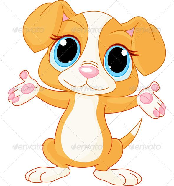 GraphicRiver Puppy Raising His Hands 7118879