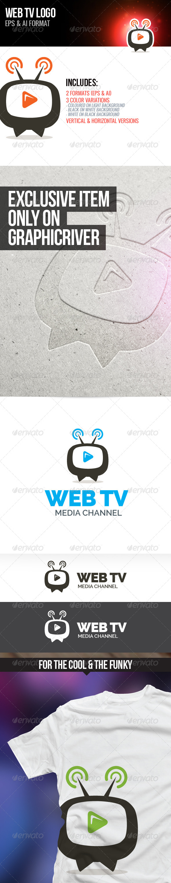GraphicRiver Web TV Logo 7098977