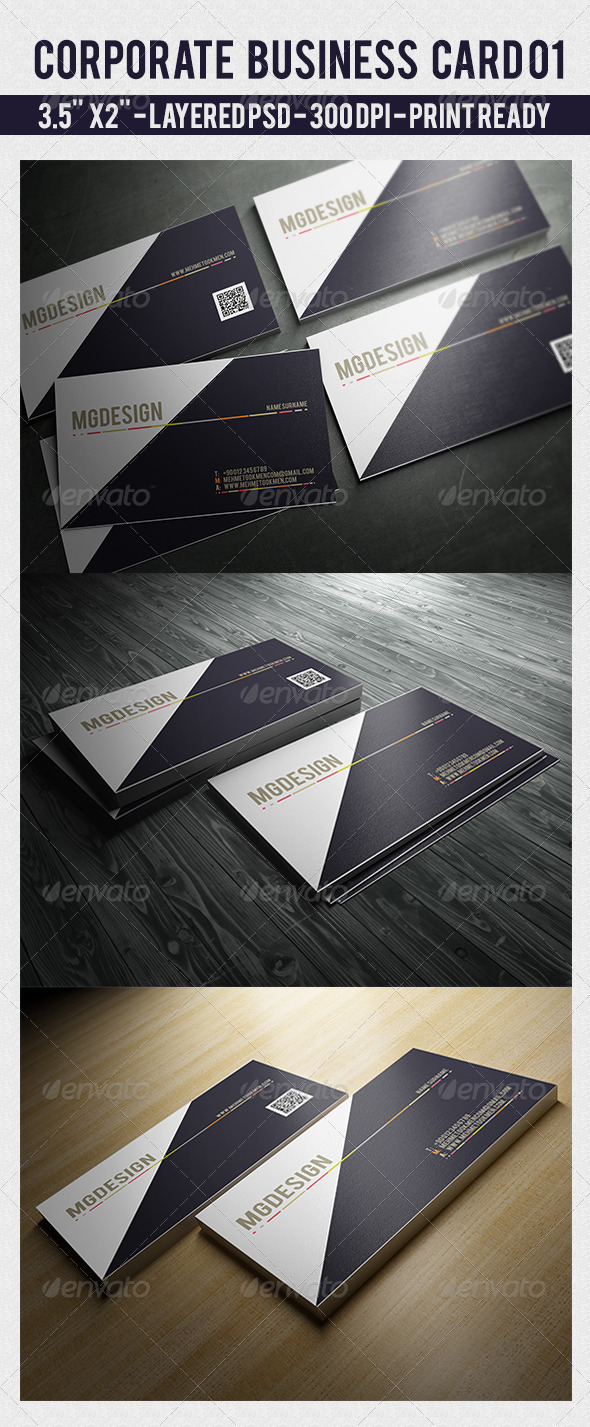 GraphicRiver Corporate Business Card 01 7119167