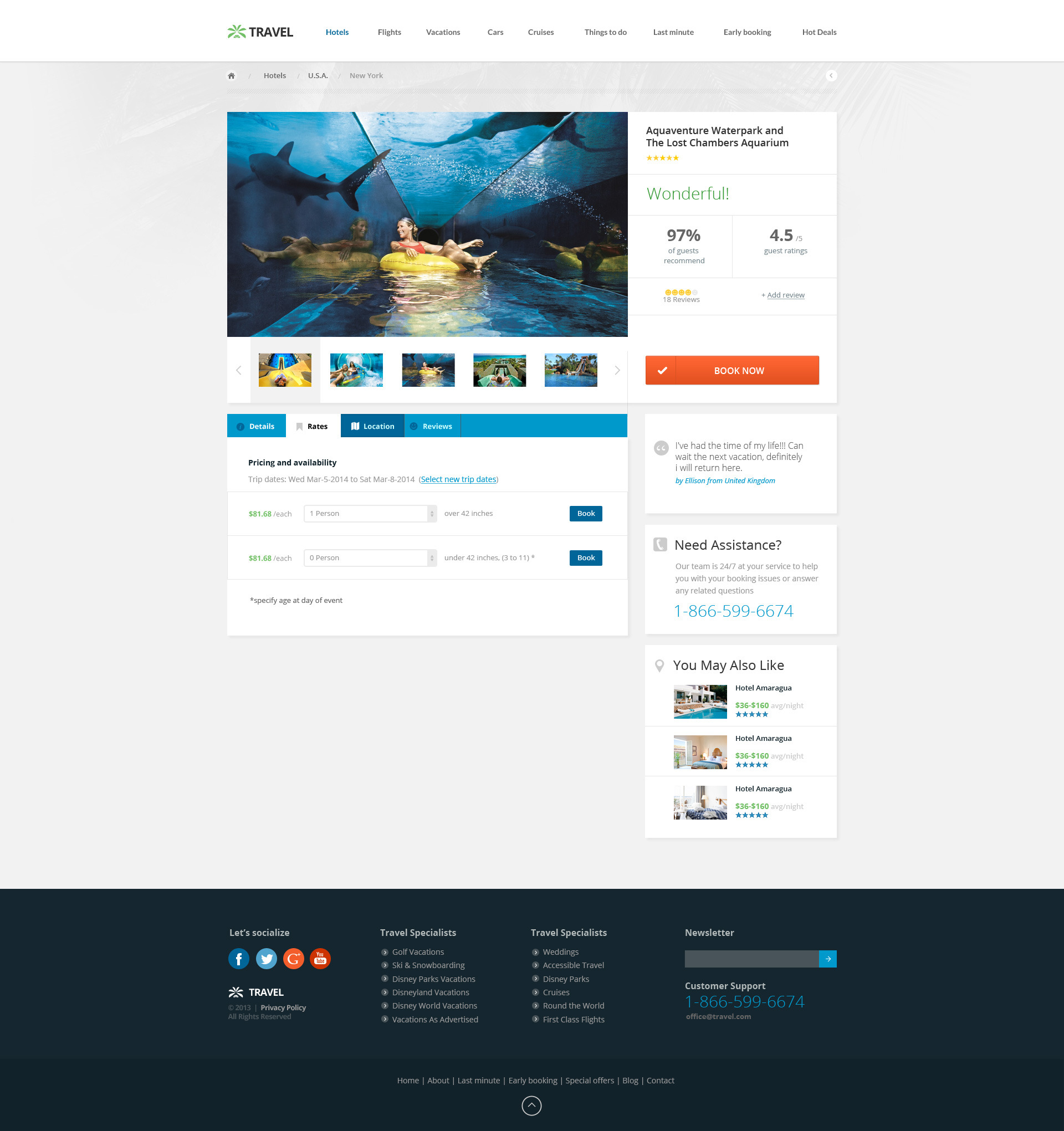 Travel Agency - Responsive Hotel Online Booking