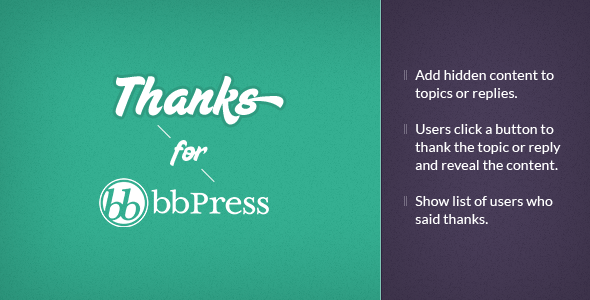 bbPress Thanks - WordPress Plugin - CodeCanyon Item for Sale