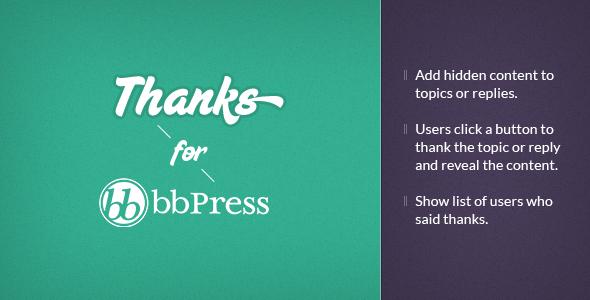 bbPress Thanks - WordPress Plugin