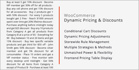 CodeCanyon WooCommerce Dynamic Pricing & Discounts 7119279