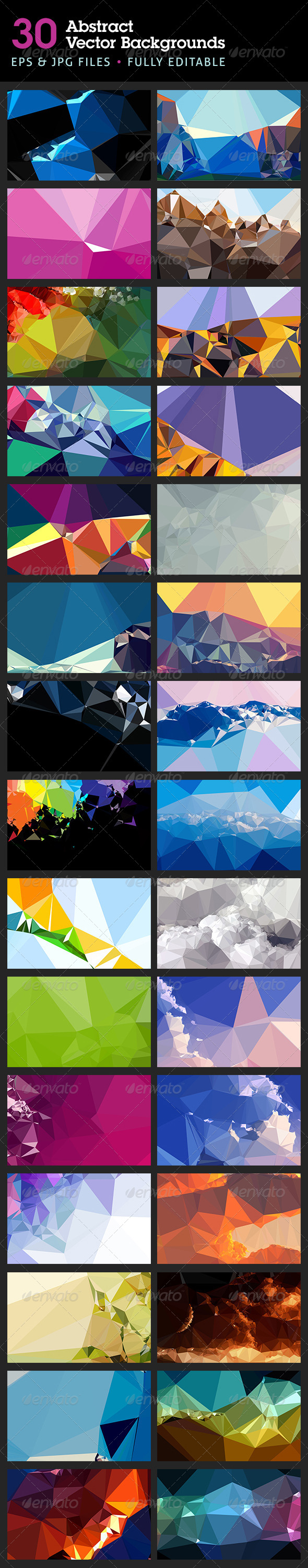 Abstract Backgrounds in Vector Format