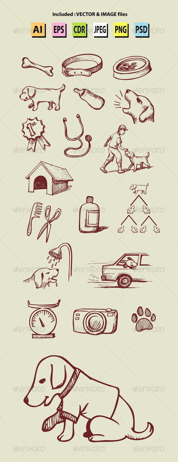 GraphicRiver Pet Shop Icons 7119362