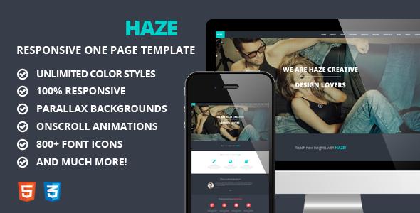 Haze: One Page Responsive Parallax Joomla Template