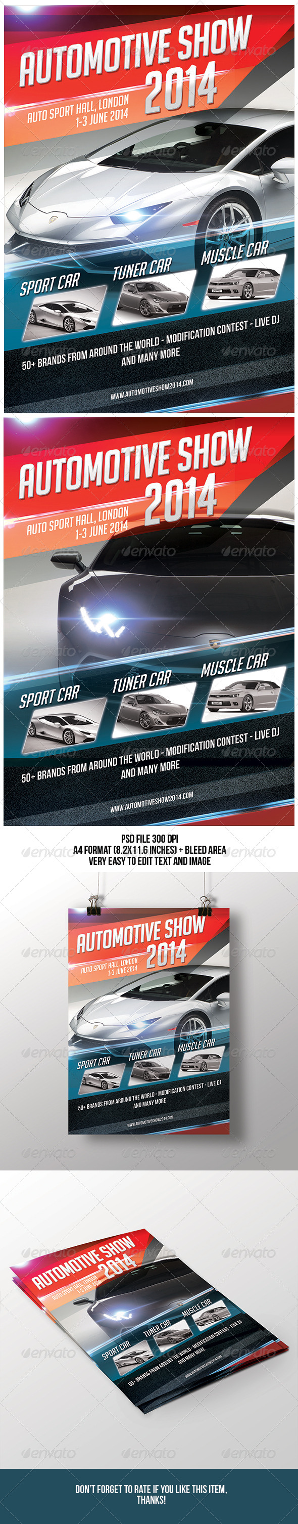GraphicRiver Automotive Show Flyer 7119718