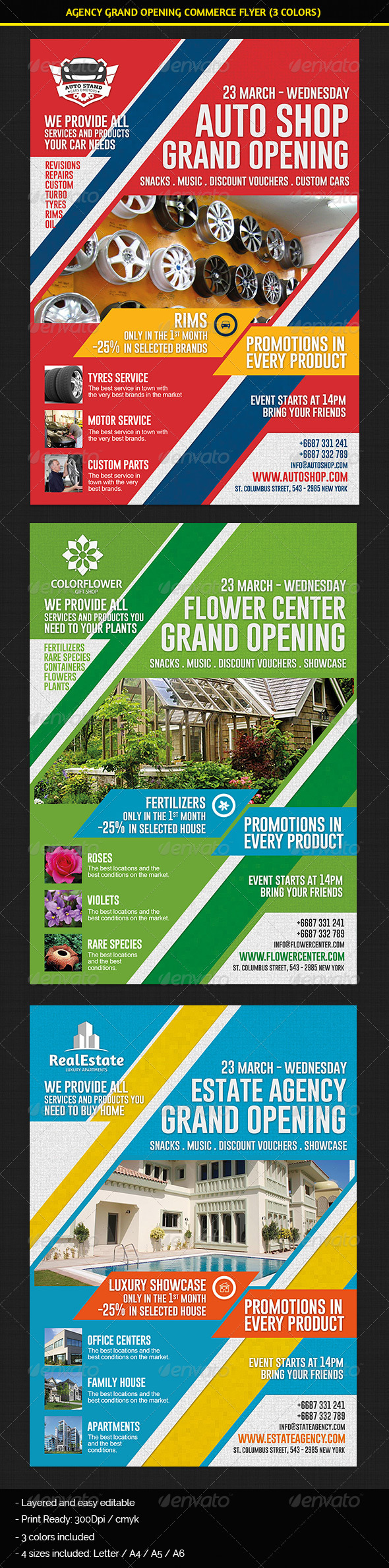 GraphicRiver Agency & Shop Grand Opening Commerce Flyer 7119972