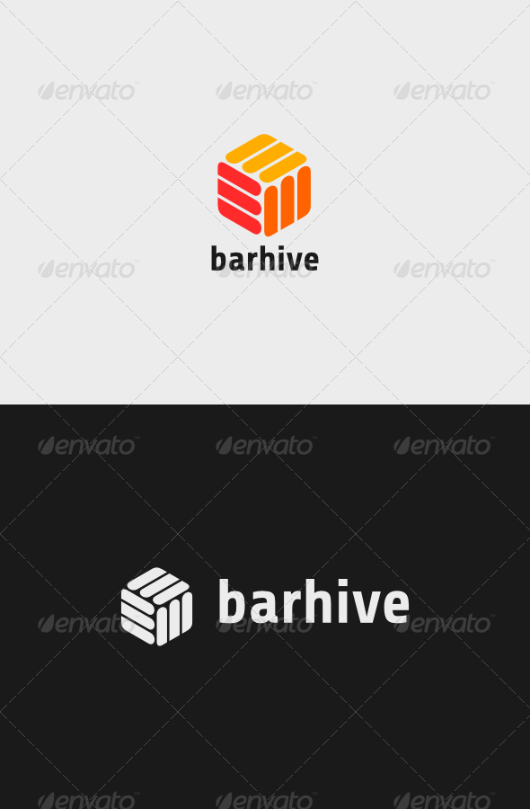 GraphicRiver Bar Hive Logo 7120578