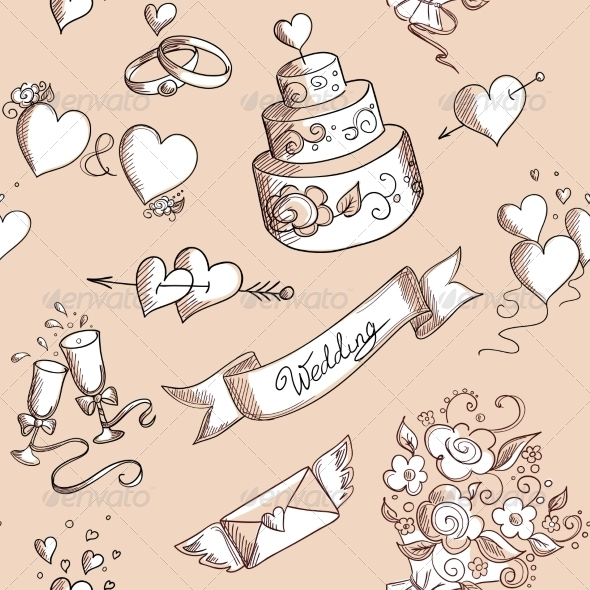 GraphicRiver Seamless Wedding Pattern 7120972