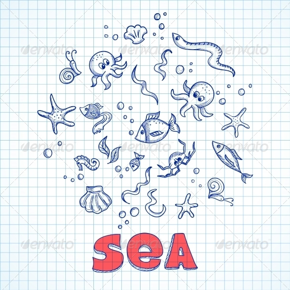 GraphicRiver Sea Life Elements 7121130
