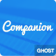 Companion Clean and responsive ghost theme