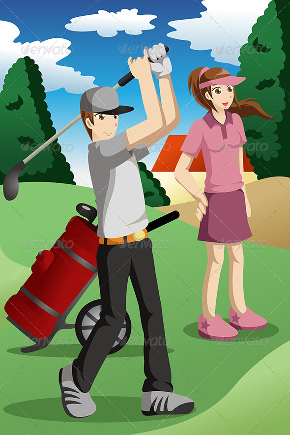 GraphicRiver People Playing Golf 7121760