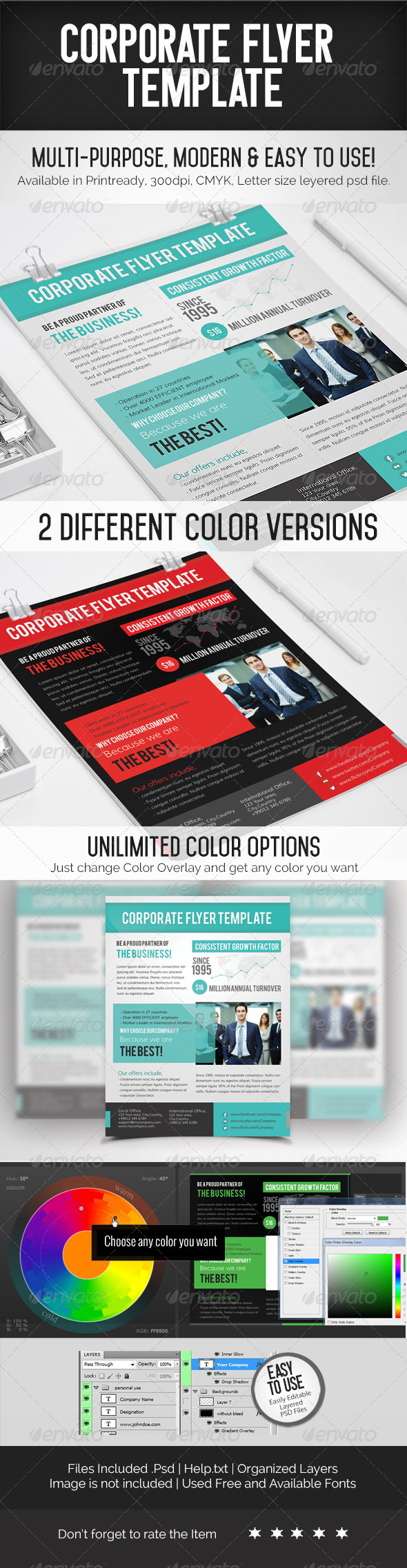 GraphicRiver Corporate Flyer Template 7121770