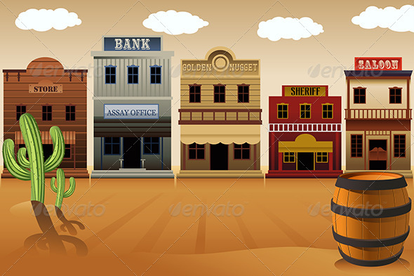 GraphicRiver Old Western Town 7121802