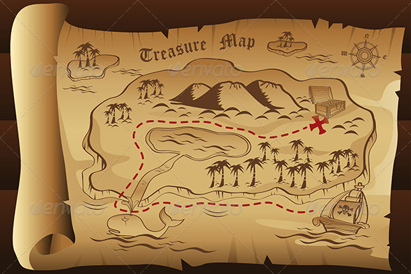GraphicRiver Treasure Map 7121817
