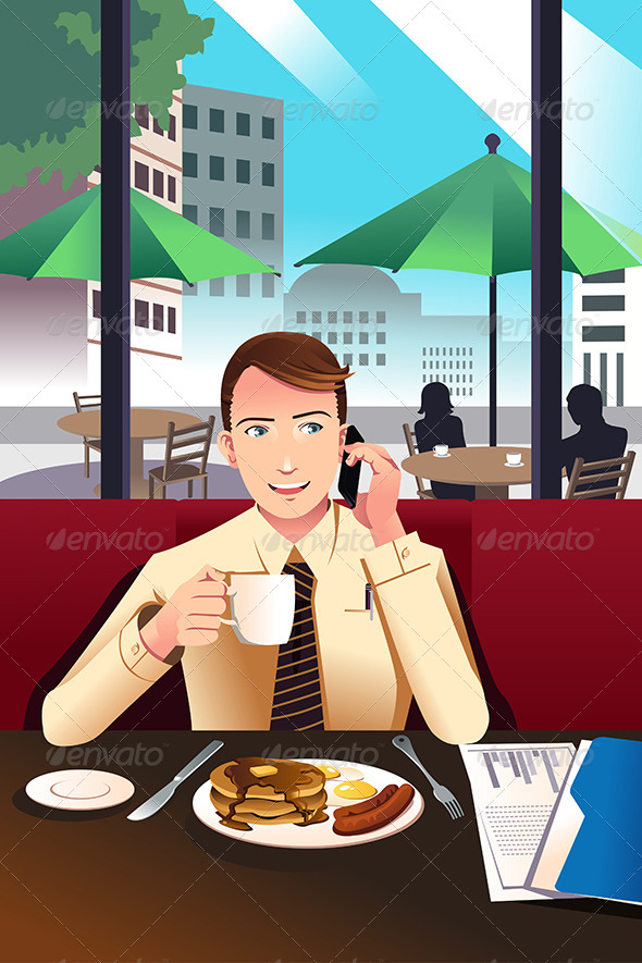 GraphicRiver Businessman on the Phone 7121830