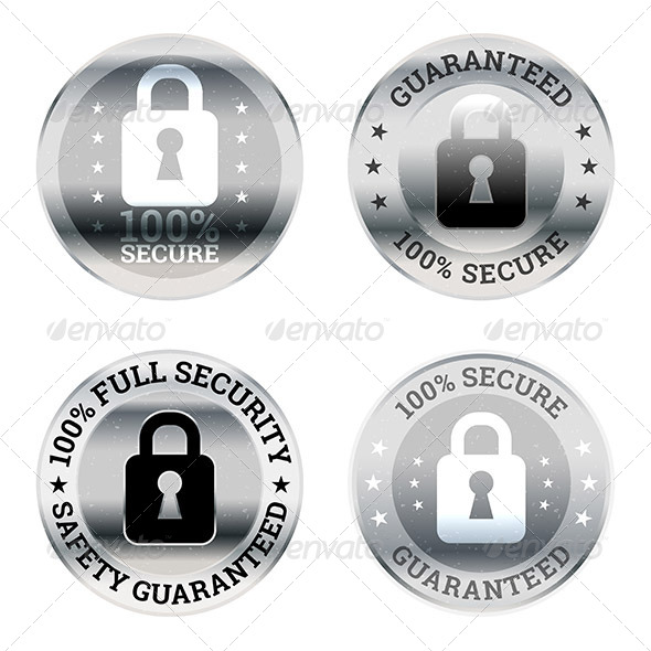 GraphicRiver Security Guarantee Label Icons 7121860