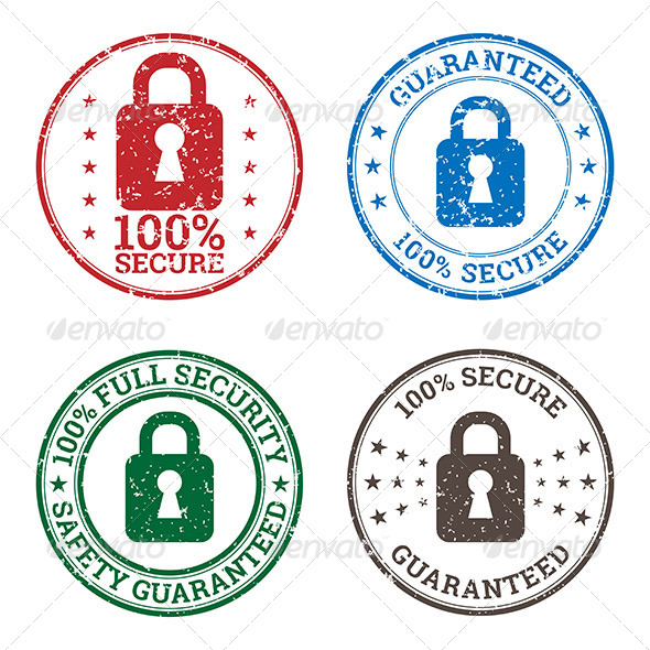 GraphicRiver Security Guarantee Stamp Icons 7121863