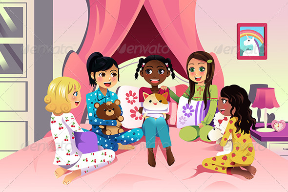 GraphicRiver Girls having a Sleepover 7121870