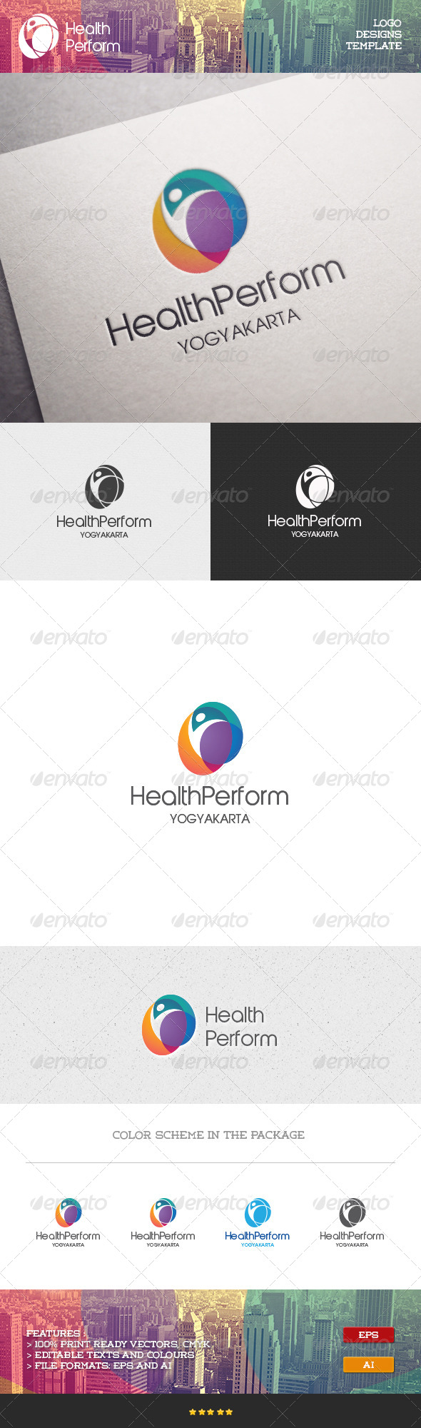 GraphicRiver Health Performance Logo 7098774