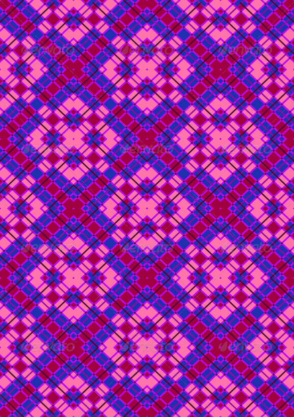 Pink Rhombuses on Purple Checkered Seamless Background - Stock Photo - Images