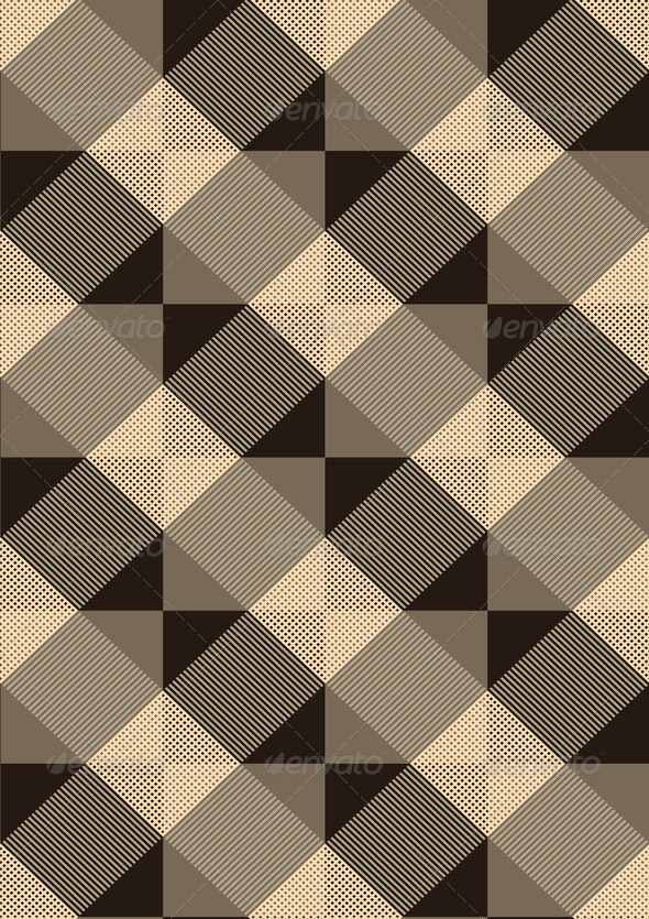 Striped Brown Rhombuses on Light Seamless Background - Stock Photo - Images