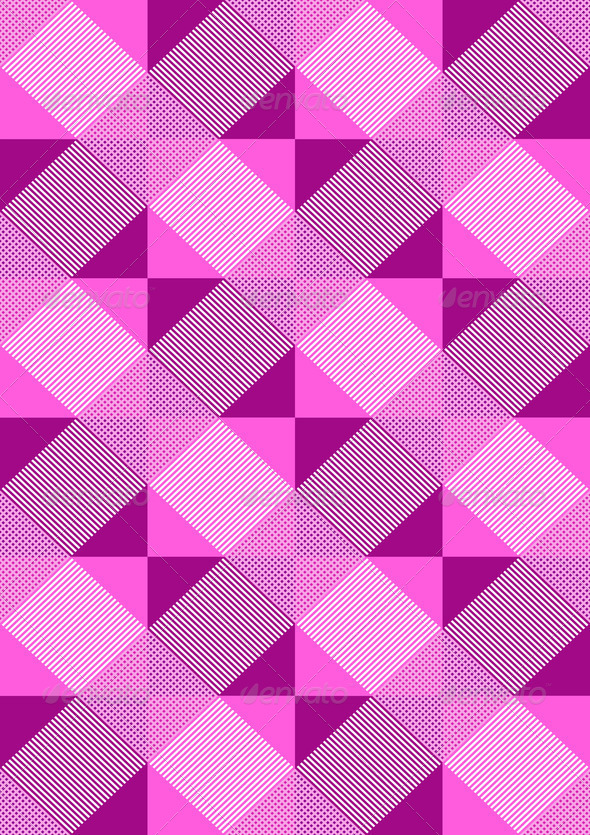 Striped Purple Rhombuses on Light Seamless Background - Stock Photo - Images
