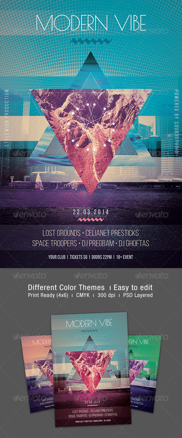 GraphicRiver Modern Vibe Flyer 7122021