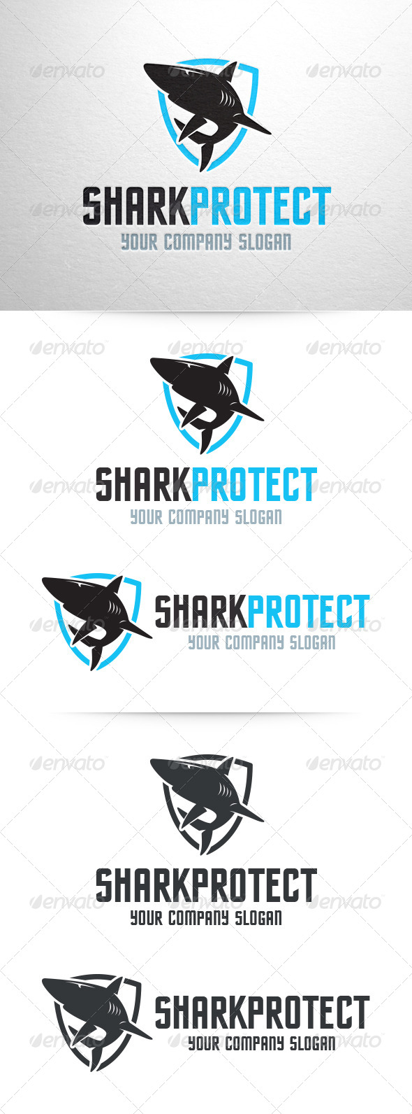 GraphicRiver Shark Protect Logo Template 7122110